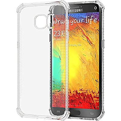 Galaxy S7 Edge Case, LUVVITT [Clear Grip] Soft Slim Flexible TPU Back Cover Transparent Rubber Case for Samsung Galaxy S7 Edge - Clear by Luvvitt