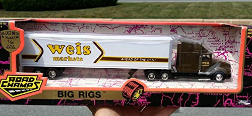 Road Champs WEIS MARKETS International Navistar Tractor Trailer Truck in 1:64 Scale Diecast Metal - 1