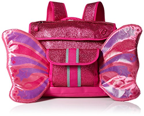 bixbee-sparkalicious-butterflyer-kids-backpack-ruby-raspberry-glitter-small
