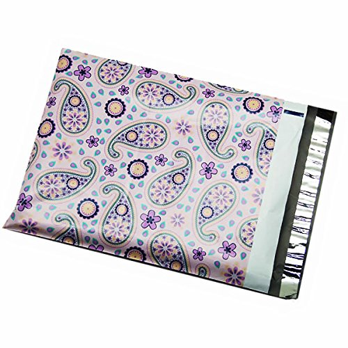 Purple Paisley Poly Mailers