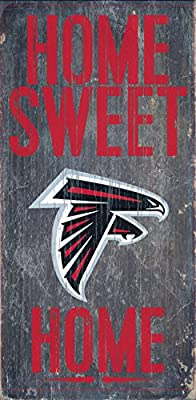 Atlanta Falcons Official NFL 14.5 inch x 9.5 inch Wood Sign Home Sweet Home by Fan Creations 048302