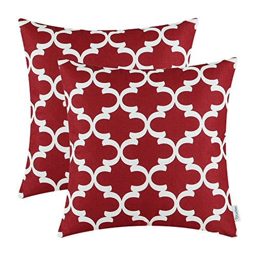 Burgundy Microfiber Throw Pillows : Bold, Vivid and Fun Red Accent Pillows - XpressionPortal