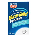Rite Aid Mucus Relief, Chest, 400 mg, Tablets, 60 ct
