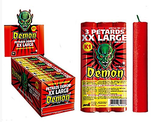 3 PETARD XXL LARGE 12 CM DEMON K1