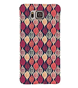 Printvisa Pink Assorted Leaves Pattern Back Case Cover for Samsung Galaxy Alpha G850