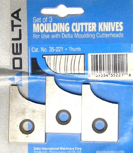 Delta 35-221 Thumb Moulding Cutter Knives (Set of 3)