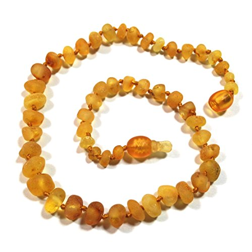 "Hazelaid (TM) 12"" Pop-Clasp Baltic Amber Caramel Necklace"