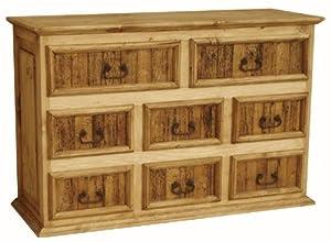 Amazon Com Rustic Dresser W Worm Wood Panels Furniture