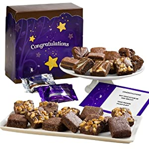 Fairytale Brownies Congratulations Half Sugar-Free Morsel 24 Gift Box by Fairytale Brownies