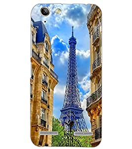 PrintDhaba EFFIEL TOWER D-6501 Back Case Cover for LENOVO VIBE K5 PLUS (Multi-Coloured)