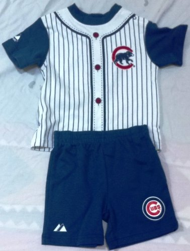 Cubs, Baby Boy 12 Months Blue 2 Pc Outfit, Shirt and Shorts Halloween Costume