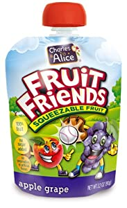 Fruit Friends Squeezable Fruit, Apple Grape, 3.2 Ounce (Pack of 32)