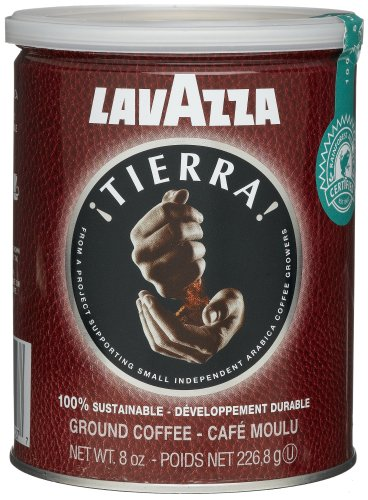 Lavazza Tierra! 100% Sustainable Ground Coffee, 8-Ounce Cans (Pack of 3)
