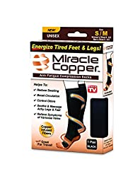Miracle Copper Anti-Fatigue Compression Socks (Small/Medium)