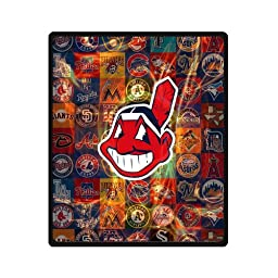 58x80 Inch MLB Cleveland Indians Travel Blanket Airplane