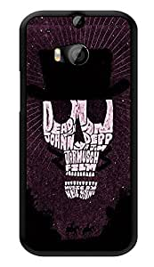 """Humor Gang Johnny Depp Skull Typography Printed Designer Mobile Back Cover For """"HTC ONE M8 - HTC ONE M8S"""" (3D, Glossy, Premium Quality Snap On Case)"""
