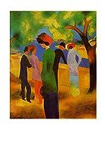 Especial Arte Lienzo Donna giacca verde - Macke August Multicolor