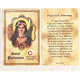 St. Philomena relic card - Wonder worker - miracle saint