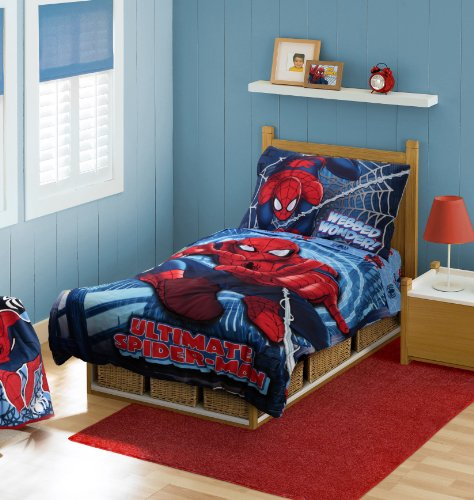 Marvel Spiderman Toddler Bedding Set, Red (Discontinued by Manufacturer)
