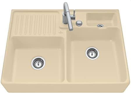 Villeroy Boch Sink / Wash &D02L) Sand Ceramic Kitchen Sink Module Beige