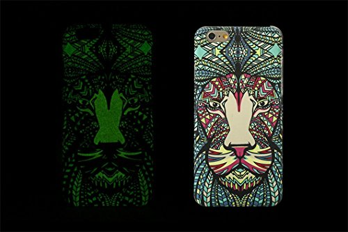 Borch Fashion Luminous Series the King of Beasts Deep Forest Phone Protective Shell for Iphone 6 4.7 Inch New Cell Phone Case (style 3)