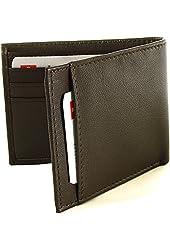 Alpine Swiss Men's Genuine Leather Thin Slimfold Wallet