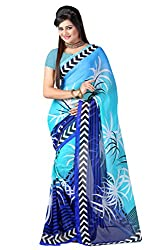 Pruthu Georgette Sari with Unstitched Blouse (pdam_102)