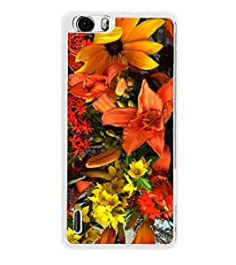 Bright Flowers 2D Hard Polycarbonate Designer Back Case Cover for Huawei Honor 6