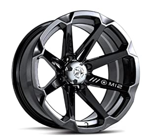 "MotoSport Alloys M12 Diesel Gloss Black ATV Wheel UTV Wheel (14x7""/4x110)"