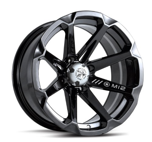 MotoSport Alloys M12 Diesel Gloss Black 14x7 