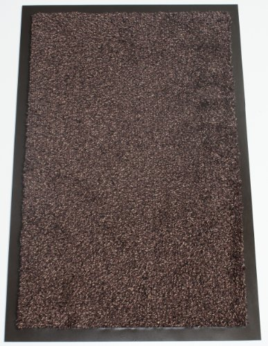 Washamat Dark Brown Mat Size: 40cm x 60cm