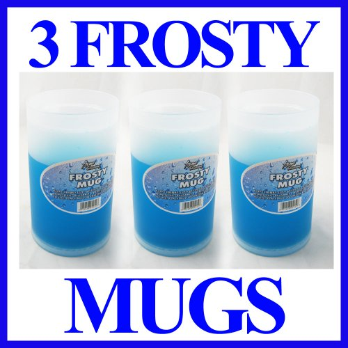 Frosty Freezer Mug Drinks Cold Beer New Gel Cup 3 Sets