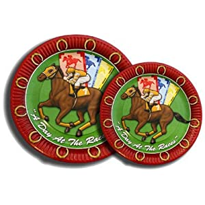 Horse Racing Dessert Plates Quot Day At The Races Quot