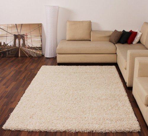 Shaggy Creme Hochflor Langflor Teppich UNI Ivory TOP PREIS NEU*, Grösse:140x200 cm