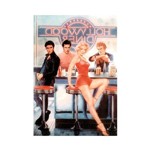 Professionally Framed Hollywood Diner Marilyn Monroe James Dean Elvis