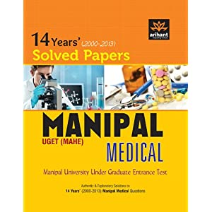 14 Years' Solved Papers Manipal UGET (MAHE) Medical