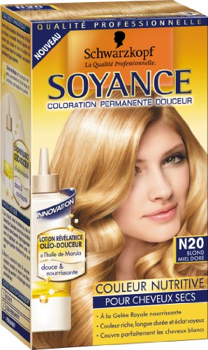 schwarzkopf soyance coloration permanente couleur nutritive blond miel dor n20 - Prix Coloration Schwarzkopf