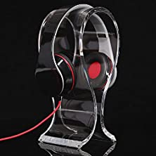 buy Mocreo®Universal Clear Headphone/Headset Showing Stand Hanger Suitable For All Headphone Sizes - Bose Qc15, Sony Mdr-Xb500, Sennheiser Hd 202 Ii, Shure, - (Transparent)