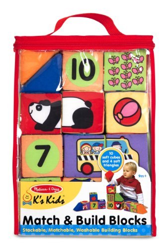 Melissa & Doug K's Kids Match and Build Blocks