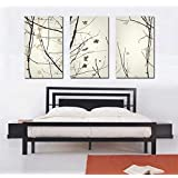 Espritte Art-Large Top Quality Canvas HD Giclee Print Black and White Abstract Art Trees Painting,without Framed, Modern Home Decorations Wall Art set of 3 Each is 40*60cm #10-shi-193