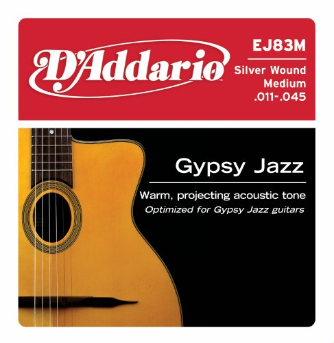 D'Addario EJ83M Gypsy Jazz Acoustic Guitar Strings,