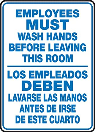 Accuform Signs SBMRST578VP Plastic Spanish Bilingual Sign