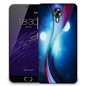 Snoogg Blue Pathway Designer Protective Phone Back Case Cover For Meizu M2