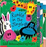 Rhyming Favorites: A Giles Andreae 4 Book Pack: Rumble in the Jungle; Commotion in the Ocean; ABC Animal Jamboree; and Cock-a-doodle-doo! Barnyard Hullabaloo