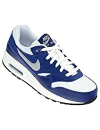 Nike Air Max 1 GS Junior Trainers Youth Sport Shoes Kids White/Blue 555766 111