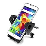 Car Air Vent Smartphone Mount Holder by USA Gear with Rotating Neck & Adjustable Clamps- Works with Motorola Moto G , Apple iPhone 6 , Samsung Galaxy S6 , Sony Xperia Z3 , LG G3 , Nokia Lumia 630 , HTC One M9 & More Smartphones