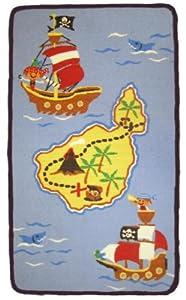 Pirate Bedroom Rug - Treasure Quest