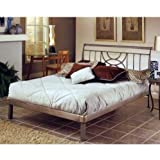 Perfect Hillsdale Furniture HQR Mansfield Platform Bed Set Queen Brushed Silver ue ue ue ue