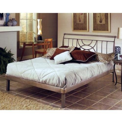 Hillsdale Furniture 1238HKR Mansfield Platform Bed Set, King, Brushed Silver