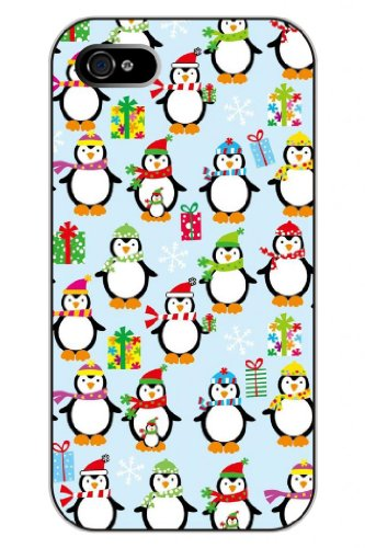 Sprawl Clear Cartoon Animal Print Hard Plastic Snap On Lovely Christmas Penguin Iphone 4S Case For Teen Girls front-1026090
